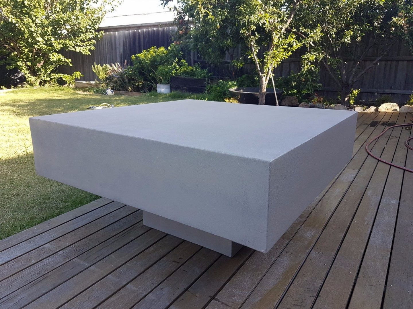 Outdoor Furniture Sale Cube Low Concrete Coffee Table W1