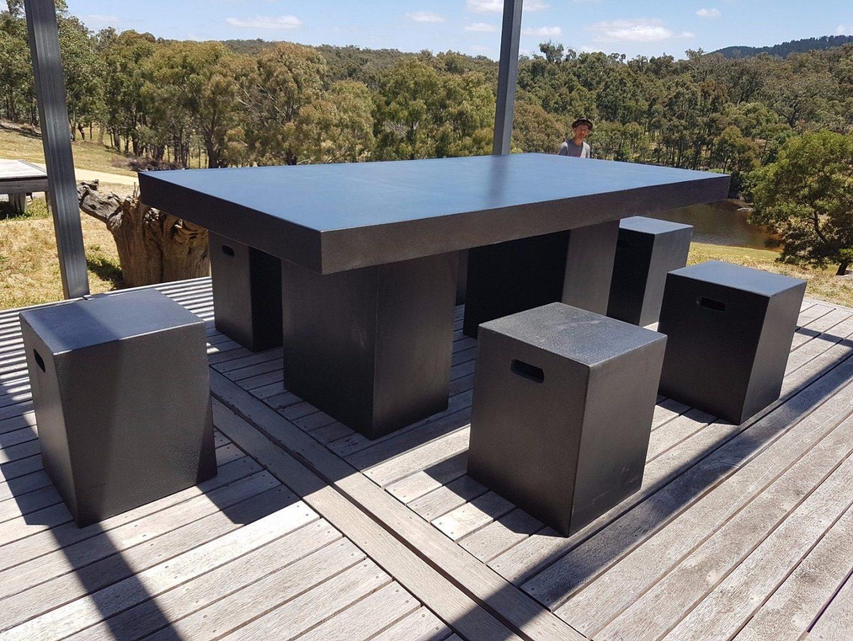 outdoor  indoor furniture black terrazzo light weight modern contemporary outdoor patio furniture Modern Outdoor Furniture Product