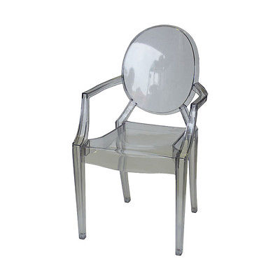 White Dinning Chair Philippe Starck Louis Ghost Chair Replica