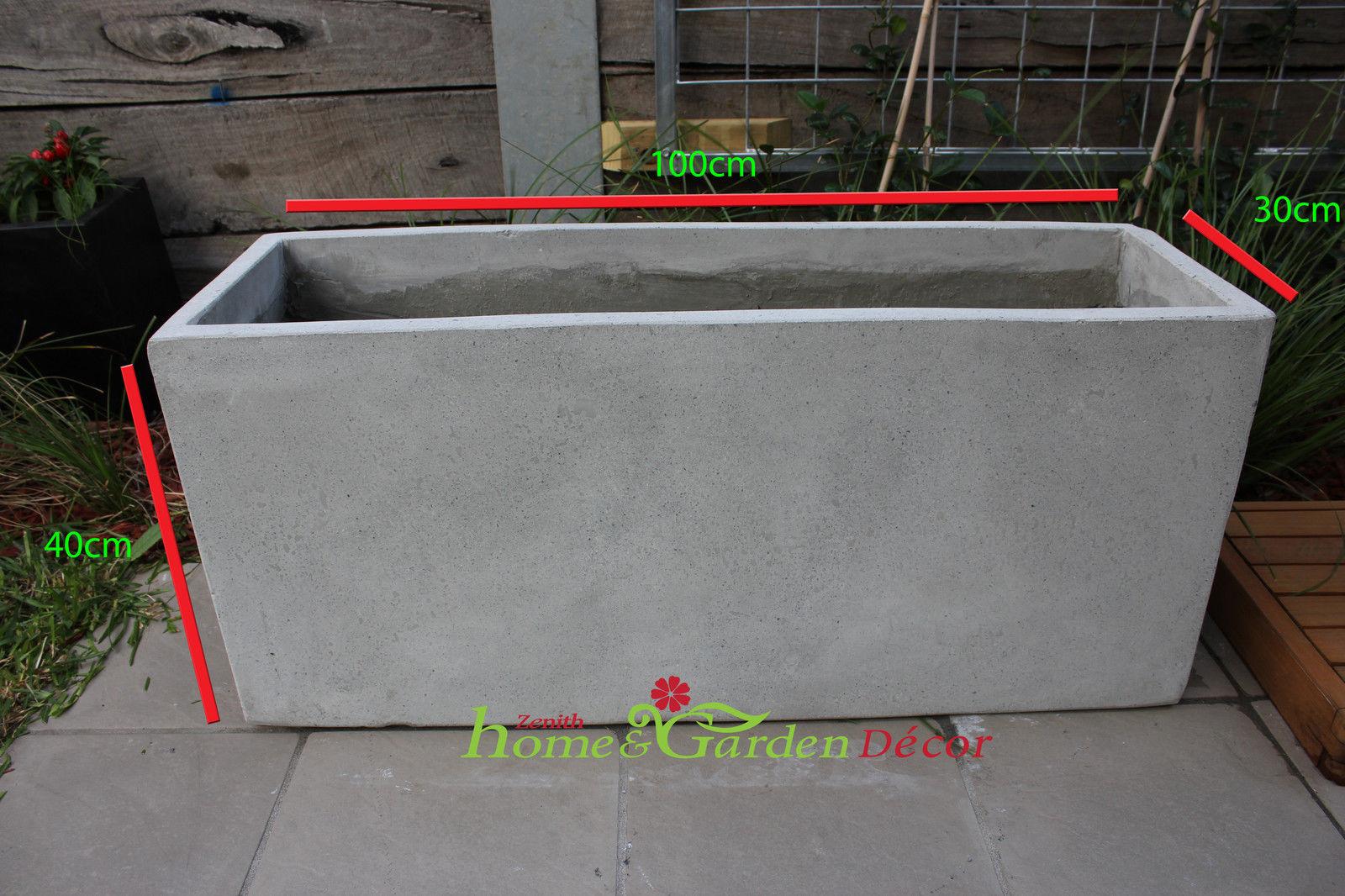 Garden Pots Batch Of 6 X 100cm Long Light Weight Concrete Planter Box