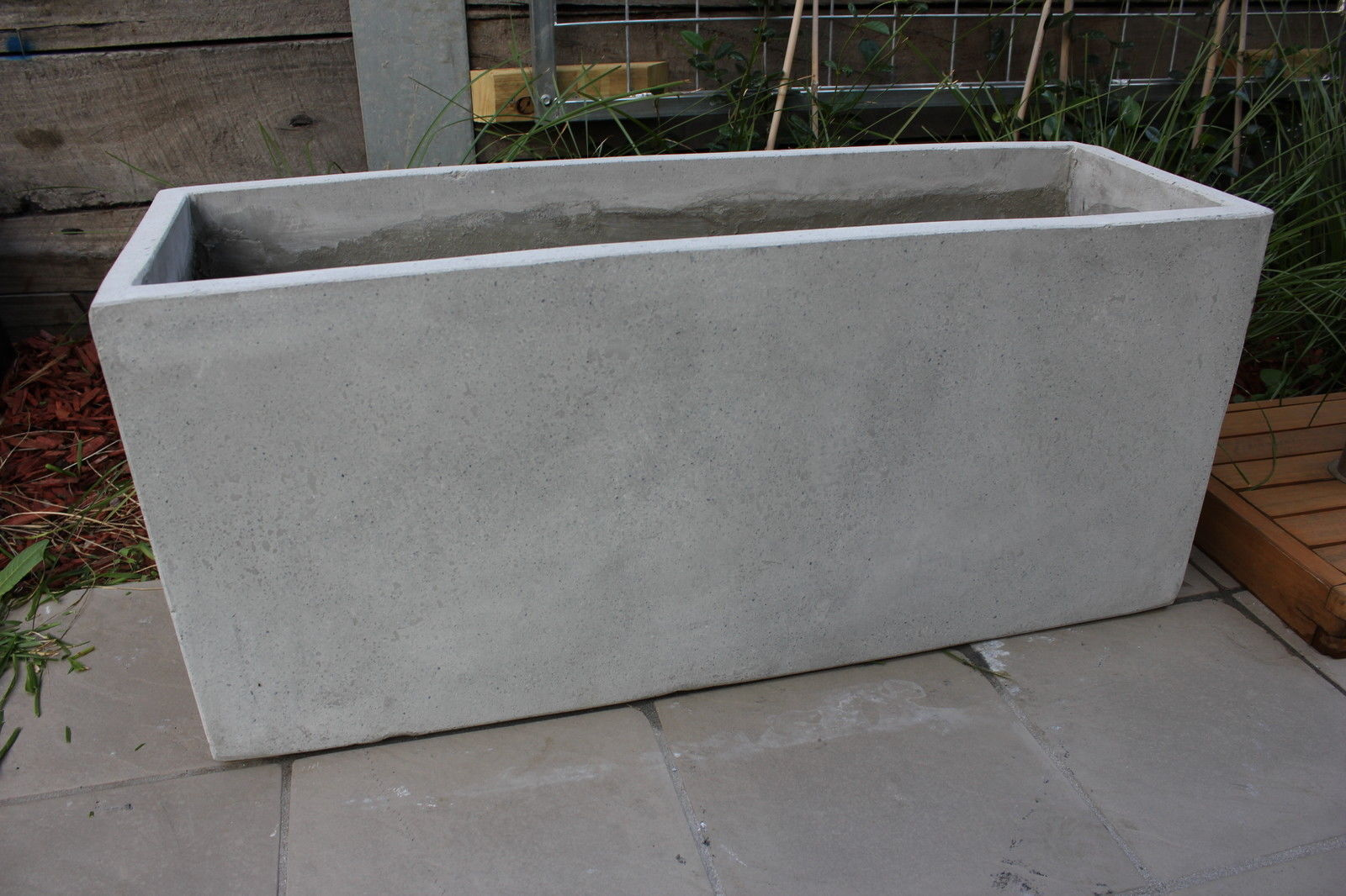 Garden Pots Batch Of 6 X 100cm Long Light Weight Concrete